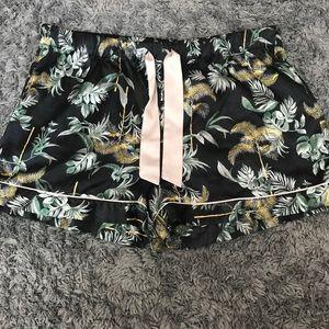 Victoria's Secret exotic silk sleep shorts